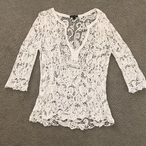 Brittany Black Sheer Knit Blouse